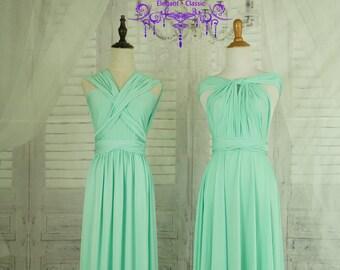 Mint Green Infinity Dress Evening Dresses   Bridesmaid Dress-B21#C21#