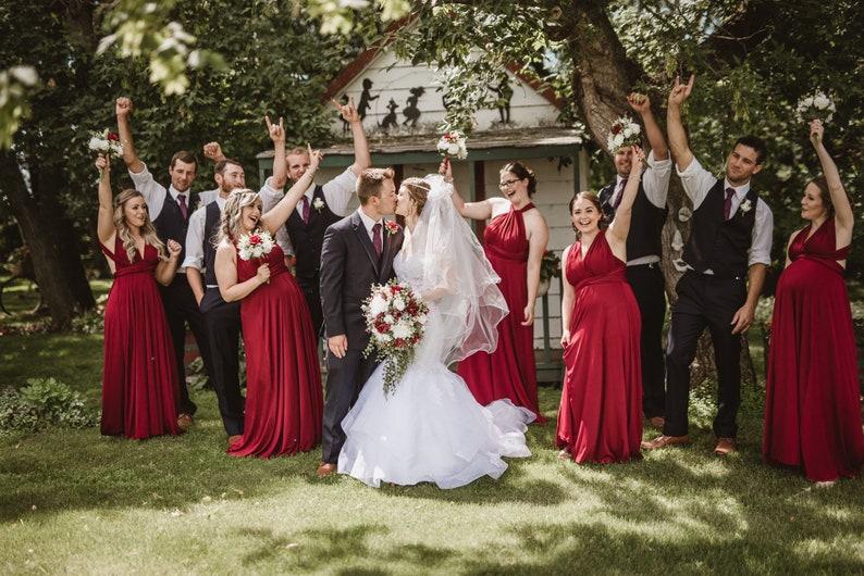 05d8e0e9a4 Bridesmaid Dresses infinity dress Burgundy Dresses, gown convertible dress,  maternity dress, Wedding Dress C27# B27# Free Shipping