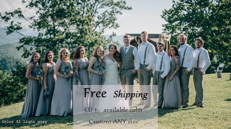 1377be6944 Bridesmaid Dress Light Grey Infinity Dress Convertible Formal,wrap  dress,party dress Evening dress C51#B51# Free Shipping