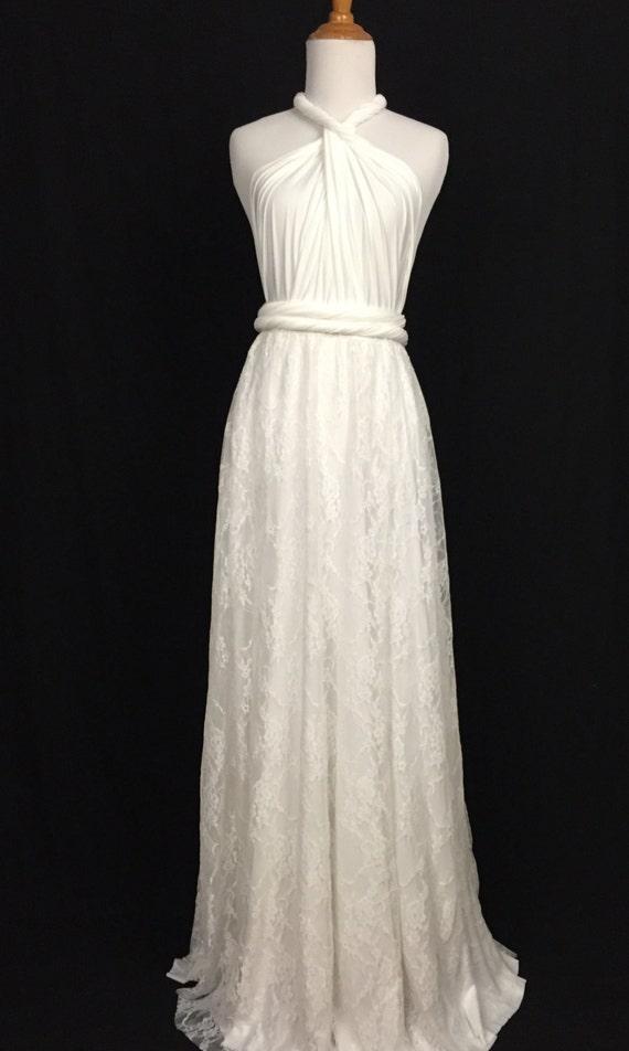 Wrap Lace Dresses for Wedding Reception
