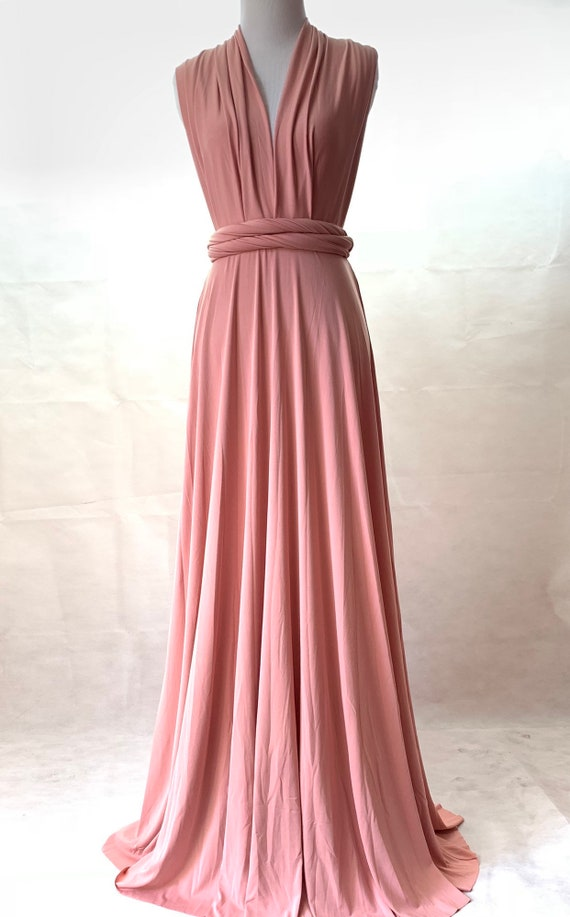 Bridesmaid dress Dusty Rose dress infinity Dress Wrap dress Convertible Infinity Dress Evening Dresses