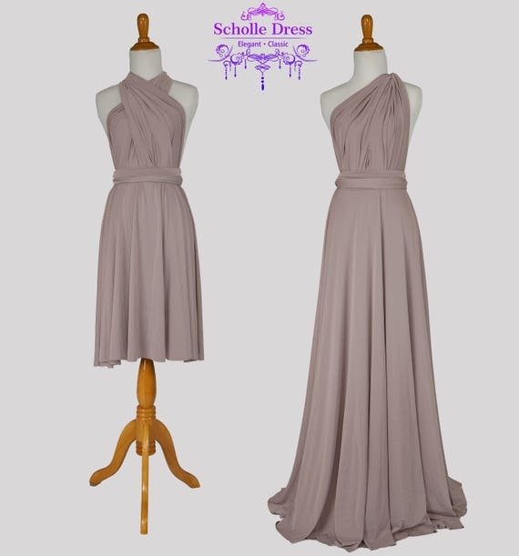 Taupe bridesmaid dress infinity Dress Convertible Formalwrap