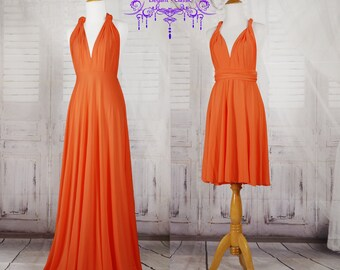 Orange Wrap Convertible Infinity Dress Evening Dresses Bridesmaid Dress-B37#C37#