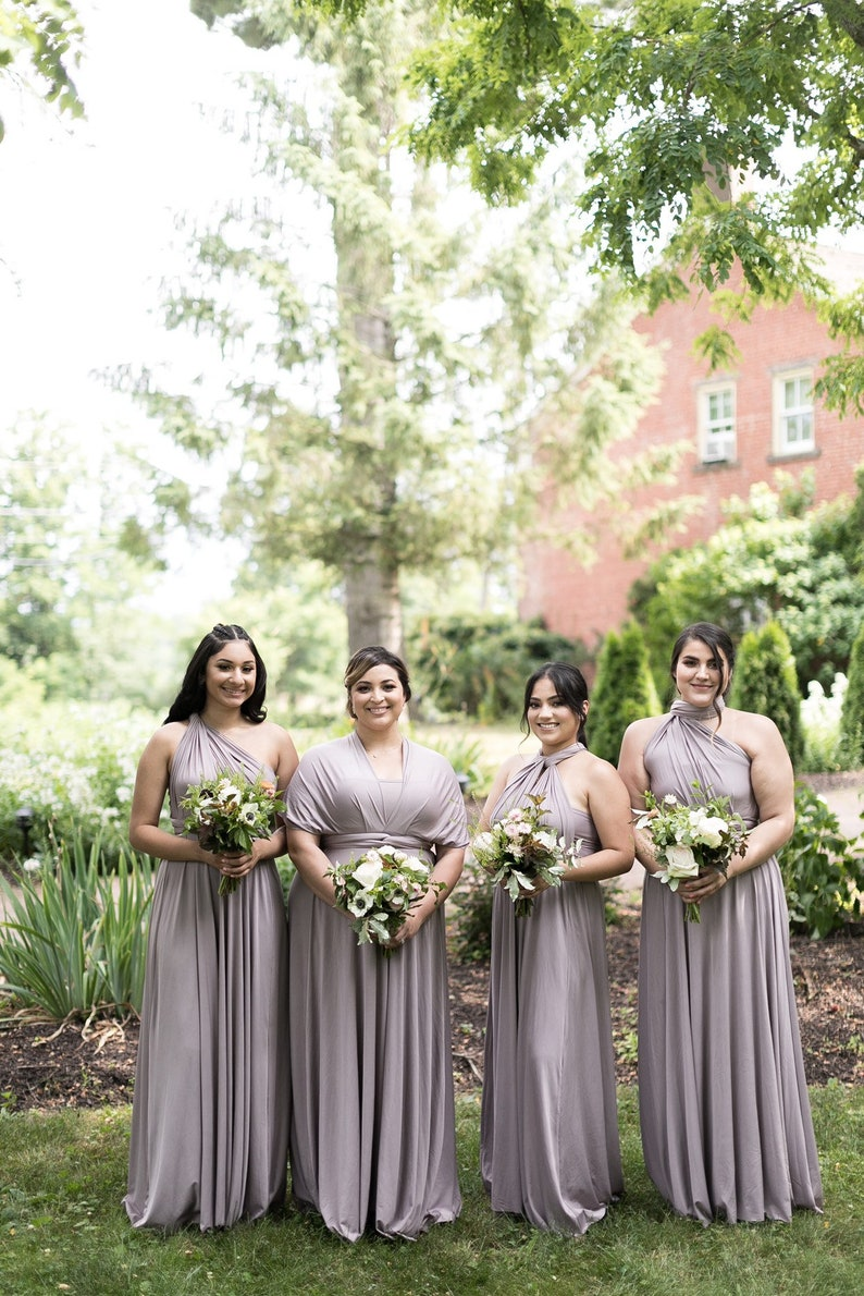 000606fea21 Taupe bridesmaid dress infinity Dress Convertible Formalwrap