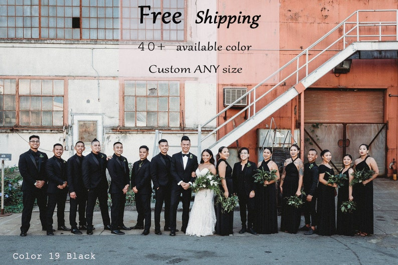4a23fb7a41 Bridesmaid dress, Black Infinity Dress Convertible Formal,wrap dress ,party  dress Evening dress-B19#C19# Free Shipping