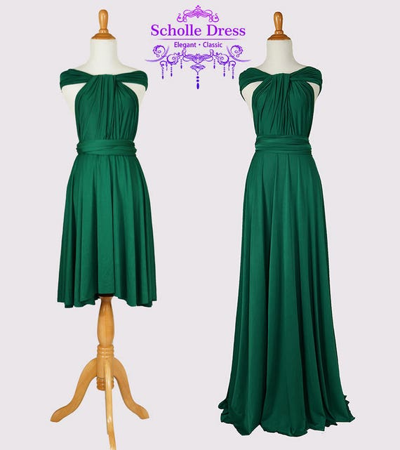 eb62a02c5d5 Emerald Green Infinity Dress Convertible Formalwrap dress