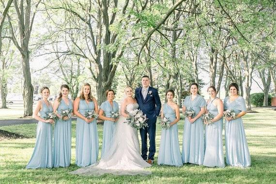 Convertible Dress Lace Infinity Dress Party Midi Wrap Dress Bulk Ordering Available Bridesmaid Dress Sage Green Formal Evening Dress