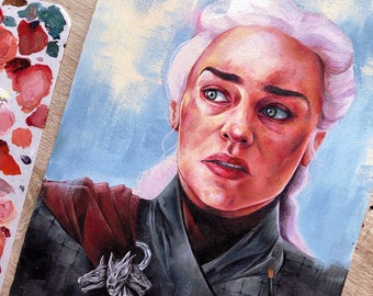 Original painting - Daenerys Targaryen (frame NOT included)
