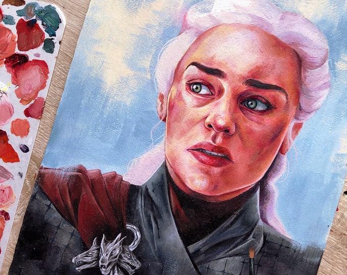 Original painting - Daenerys Targaryen (frame NOT included)