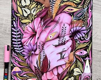 Heart vegetation