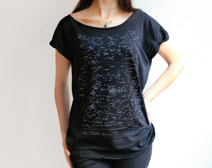 T-shirt map constellations