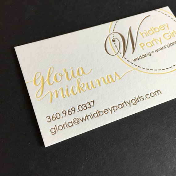 Letterpress business cards 100 custom business cards etsy colourmoves