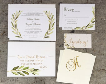 Set of Custom Designed Wedding Invitation & Calligraphy Packages - Envelope Addressing
