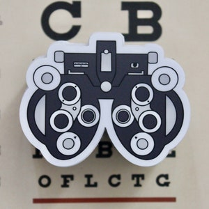 Ophthalmologist Optometry Student Eyeglasses Name Vinyl Decal Sticker Ophthalmic Rep Optician Ophthalmic Tech Optometrist