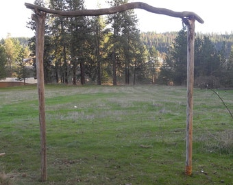 Rustic Driftwood Wedding Arch Garden Arbor Beach Archway 6u0027 X 7u0027  Freestanding By North Idaho Drift ARBC