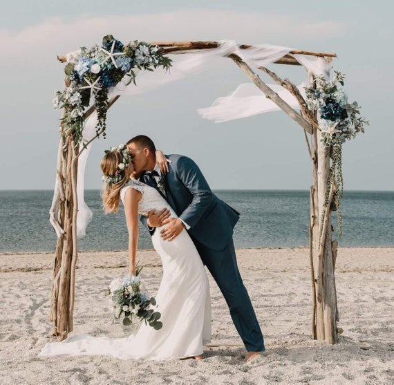 Diy Beach Wedding Arch: Driftwood Wedding Arch Garden Arbor Beach Wedding Wood