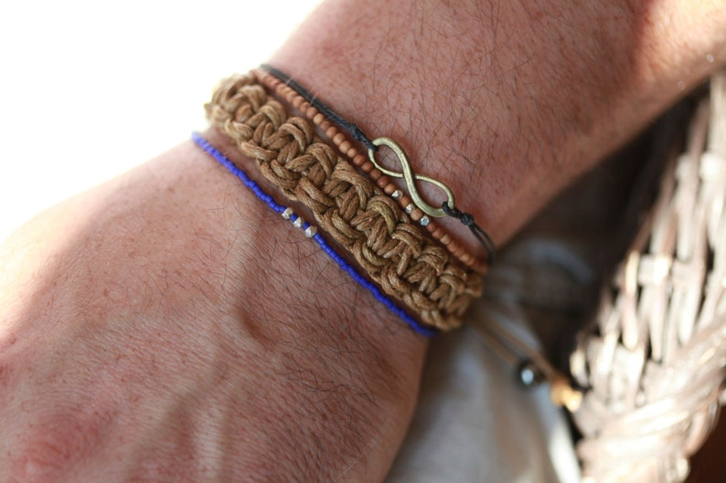 Infinity bracelet for men,men/'s bracelet with a Black infinity charm endless love Men/'s Infinity bracelet friendship bracelet