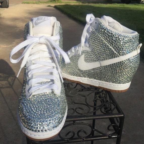 5078a68f03d5 Rhinestone Nike Wedge Sneakers