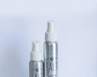 Sea Salt Hair Spray // Coconut Oil // Eucalyptus Oil // Himalayan Pink Sea Salt // Nourishing Organic & Vegan Hair Products // Beach Waves