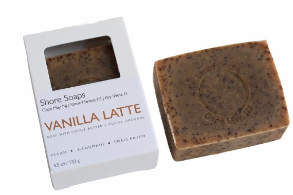 VANILLA LATTE Coffee Soap Bar // Vegan Cold Process // Coffee