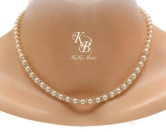 Bridal Necklace Pearl Wedding Jewelry Pearl Bridal Jewelry Pearl Bridal Necklace Pearl Wedding Jewelry FREE Gift Box Bridesmaid Necklace