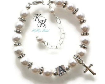 Personalized Baptism Bracelet, Baptism Gift, Baby Gift, Personalized Baby Gift, Baby Boy Gift, Christening Gift, Baptism Bracelet, Baby Girl