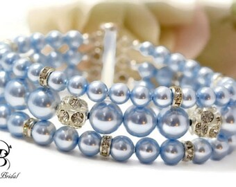Pearl Cuff Bracelet Multistrand Bracelet Pearl Bridal Bracelet, Wedding Jewelry Pearl Bridal Jewelry Bridesmaid Bracelet Wedding Jewelry