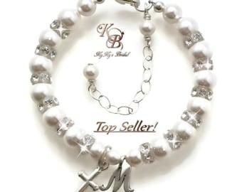Personalized Baptism Bracelet ~ Baby Bracelet ~ Baptism Gift ~ Christening Bracelet ~ Christening Gifts ~ First Communion Gifts