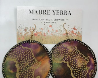 """Circular 2.5"""" Lightweight Fabric Earrings Handcrafted Unique designs and fabrics light as a feather one of a kind"""
