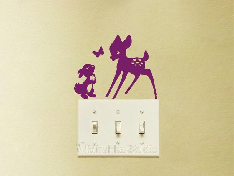 Stickers Mural Bambi et Panpan sous la neige Choix Taille et Couleur