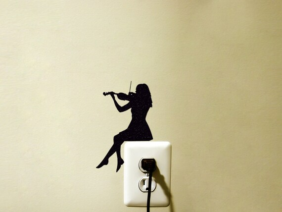 Light Switch Velvet Decal Violin Wall Sticker Classical | Etsy