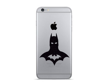 Batman Velvet Decal - 2 iPhone 6 Decals - iPhone Sticker - Movie Wall Decor - Batman Gifts - Superhero Laptop Sticker - Phone Decor