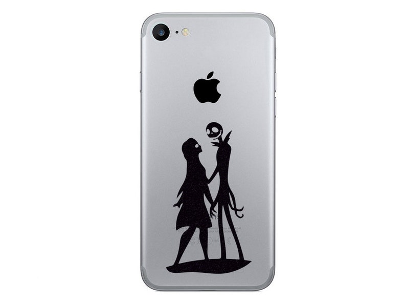 best sneakers 5a7fc d33d1 Jack Skellington and Sally iPhone 7 Stickers - Samsung Galaxy s8 Nightmare  Before Christmas Decals- iPhone 8 Plus Decor - iPhone X Stickers