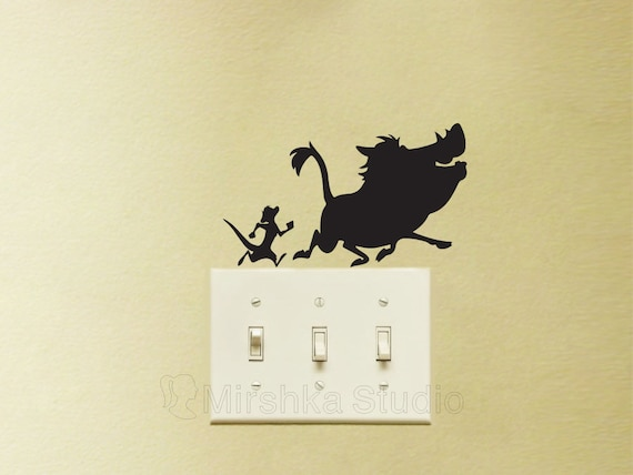 Timon and Pumba Light Switch Stickers The Lion King Velvet   Etsy 805a5a380c