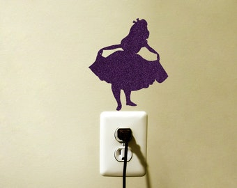 Alice In Wonderland Decor - Velvet Fabric Alice Decal - Alice In Wonderland Laptop Sticker