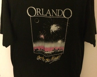 Vintage 80s Orlando Go For The Magic T-shirt