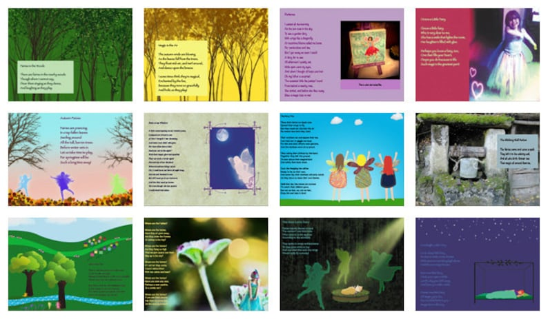The Purple Book of Fairy Poems Instant Download Fairy Book image 0