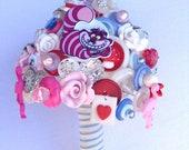 Alice in Wonderland Bouquet. Quirky Button Bouquet.  Keepsake Bouquet.   Alternative Bouquet