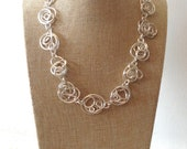 Silver Wire Freeform Necklace.  Chunky Statement Necklace.  Handmade Necklace
