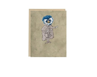 Blue Pansy- Greeting Card Blank Inside