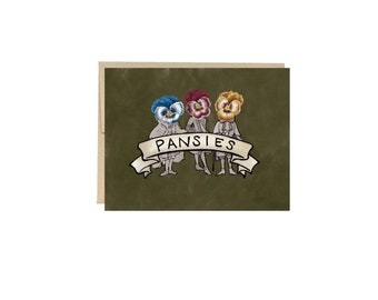 A Bunch of Pansies - Greeting Card Blank Inside