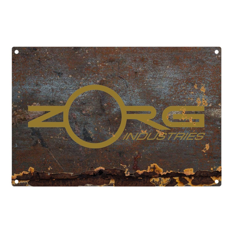 The Fifth Element: Zorg Industries Metal Sign 12x8 image 0