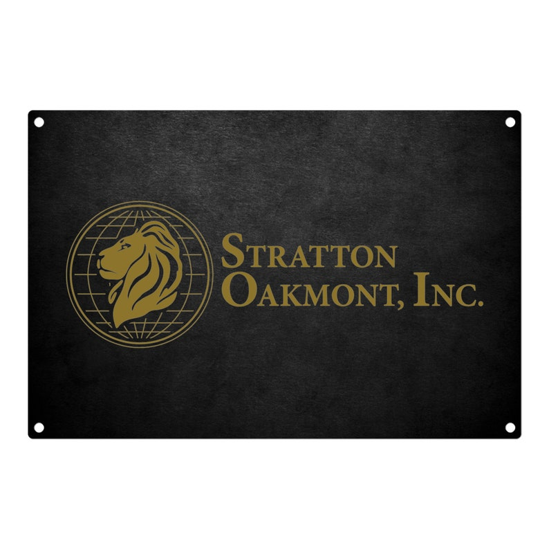 The Wolf Of Wall Street: Stratton Oakmont Metal Sign 12x8 image 0