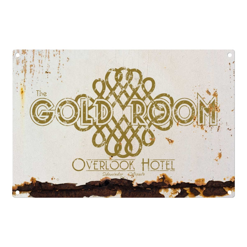 The Shining: The Gold Room Metal Sign 12x8 image 0