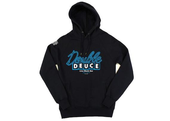 Roadhouse Double Deuce Logo Mens Zip-up Hoodie
