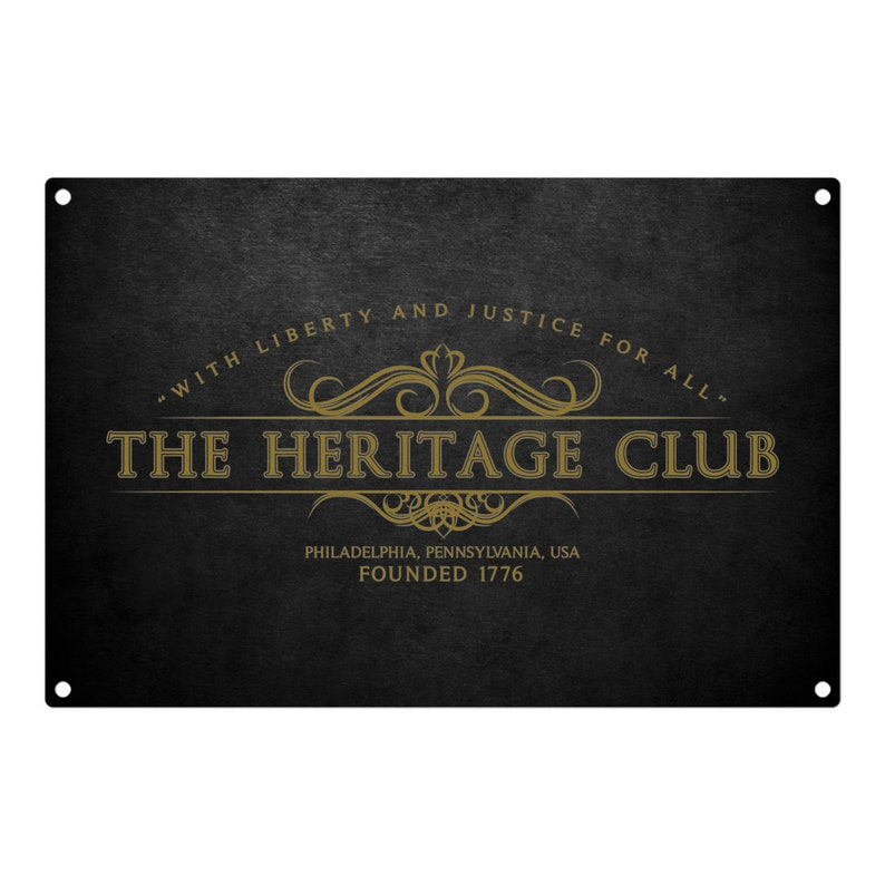 Trading Places: The Heritage Club Metal Sign 12x8 image 0