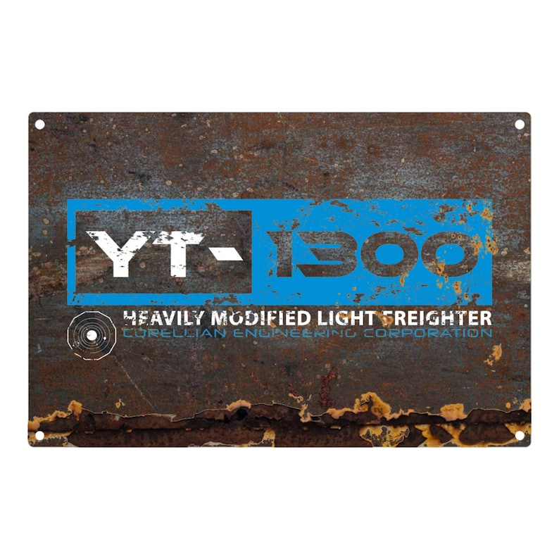 STAR WARS: YT-1300 Metal Sign 12x8 image 0