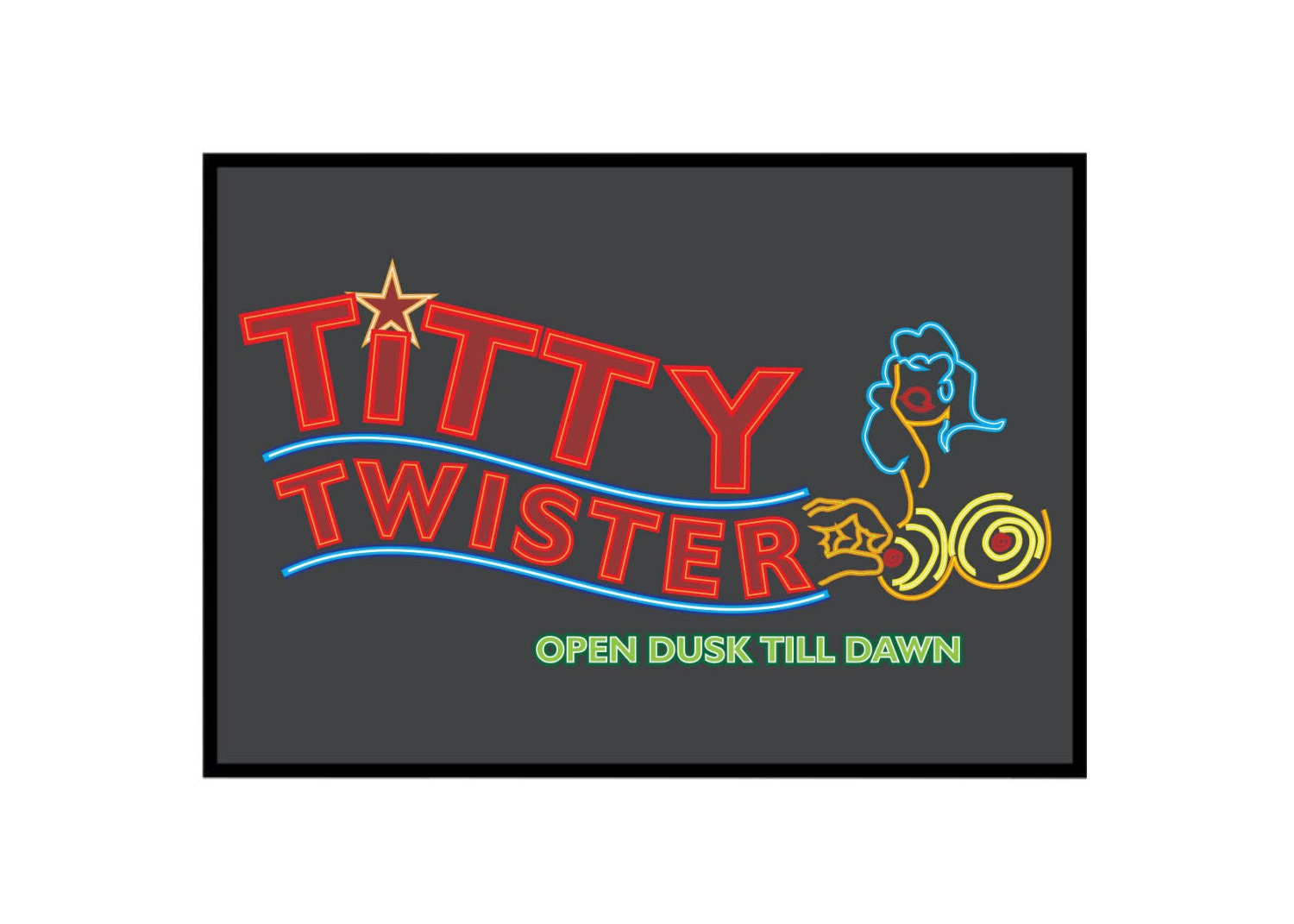From Dusk Till Dawn: Titty Twister Poster   Etsy