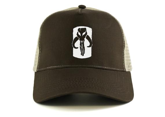 d1d5816227b Star Wars  Mandalorian Skull Logo Trucker Cap