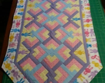 Happy Easter Bunny Quilted Table Runner